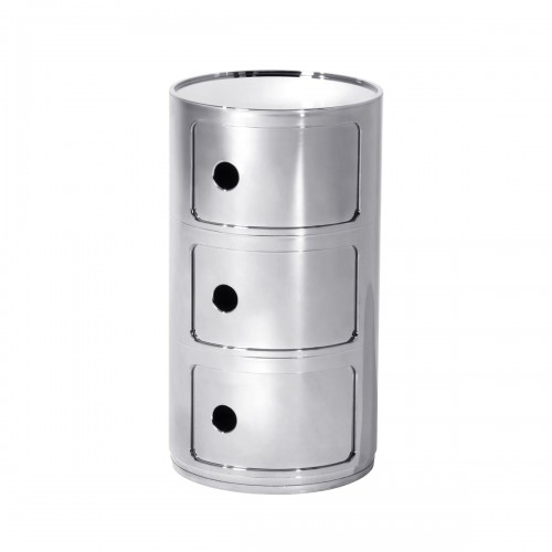 [Kartell/카르텔] Componibili Ø 32 cm metal 정리함 L // 콤포니빌리 Ø 32 cm 메탈 정리함 L