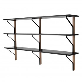 [Artek/아르텍] REB 008 Kaari Wall Shelf 200 x 35 cm, black/natural oak // REB 008 카아리 월 쉘프 200 x 35 cm, 블랙/네추럴 오크