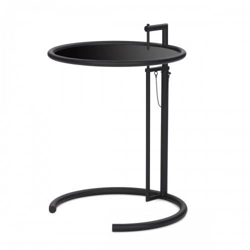 [ClassiCon/클래시콘] Adjustable Table E 1027 - Black , Metal black glass // 어드저스터블 테이블 E 1027 - 블랙, 메탈 블랙유리