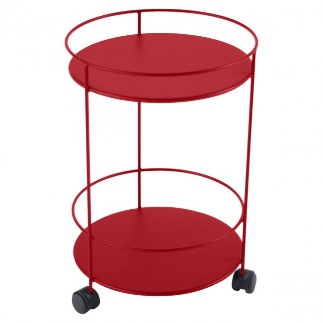[Fermob/페르몹] Guinguette Side Trolley on Wheels Poppy Red // 갱게트 사이드 트롤리 온 휠 파피 레드