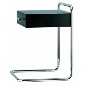 [Thonet/토넷] B 117 Side Table, chrome / deep black (RAL 9005) // B 117 사이드 테이블, 크롬 / 딥 블랙 (RAL 9005)