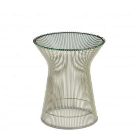 [Knoll/놀] Platner side table, nickel polished (ø40 x H46cm) // 플래트너 사이드 테이블, 니켈 폴리쉬 (ø40 x H46cm)