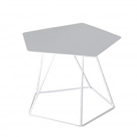 [Bonaldo/보날도] Tectonic side table, 43 cm, tabletop made of steel sheet, white