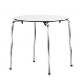 [Vitra/비트라] Hal table, round, white / chrome // 할 테이블, 라운드, 화이트 / 크롬