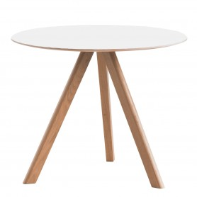 [Hay/헤이] Copenhague CPH20 Round Table Ø 90 cm, clear lacquered oak with linoleum, off-white // 코펜하게 CPH20 라운드 테이블 Ø 90 cm, 클리어 래커 오크 위드 리놀륨, off-화이트