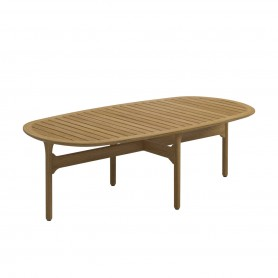 [Gloster] Bay Lounge Table, 126 x 63 cm, teak