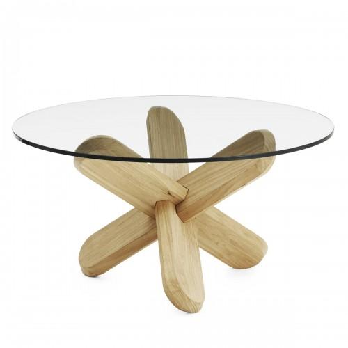 [Normann Copenhagen/노만코펜하겐] Ding Table - Glass / Oak // 딩 테이블 - Glass/Oak