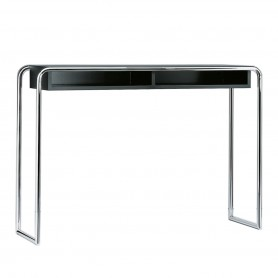 [Thonet/토넷] B 108 Console Table with Compartment, chrome / jet black (RAL 9005) // B 108 콘솔 테이블 위드 Compartment, 크롬 / 제트 블랙 (RAL 9005)