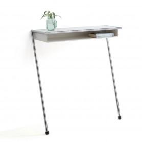 [Mox] Lola Wall Console, polished chrome / white