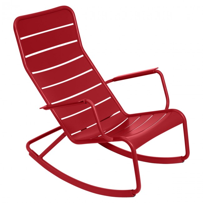 [Fermob/페르몹] Luxembourg Rocking Chair Poppy Red // 룩셈부르크 락킹 체어 파피 레드