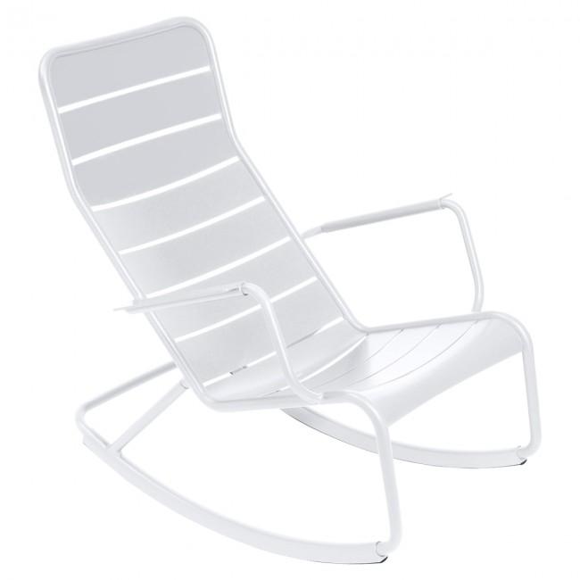 [Fermob/페르몹] Luxembourg Rocking Chair Cotton White // 룩셈부르크 락킹 체어 코튼 화이트