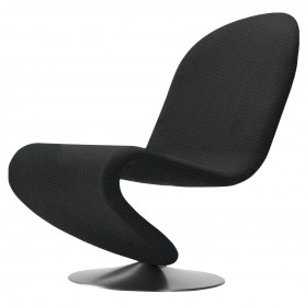 [Verpan/베르판] System 1-2-3 Lounge Chair Standard, Urban Plus black (Subway yn009)