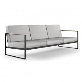 [Roshults/로슐츠] Garden Easy 3 Seater Sofa, anthracite / natural grey