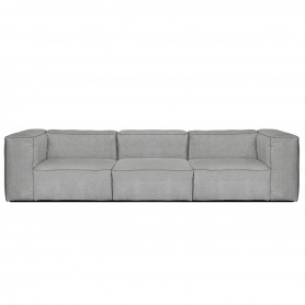 [Hay/헤이] Mags Soft Sofa, 3-Seater, combination 1, light grey (Hallingdal 130) / Stitches: dark grey // 매그 소프트 소파, 3-시터, combination 1, 라이트 그레이 (Hallingdal 130) / Stitches: 다크 그레이