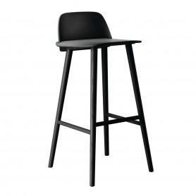 [Muuto/무토] Nerd Barstool seat height: 75 cm, black // 너드 바스툴 시트 height: 75 cm, 블랙