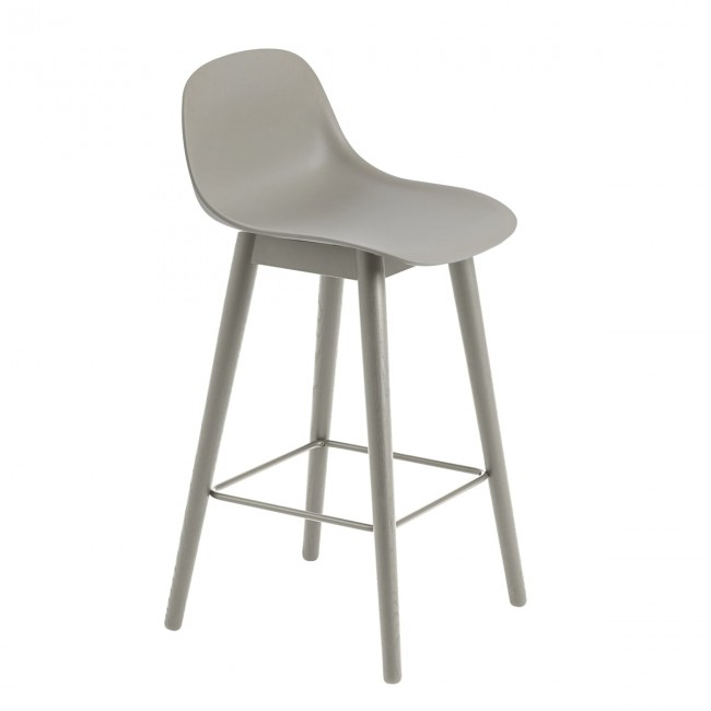 [Muuto/무토] Fiber Bar Stool with Backrest / Wood Base