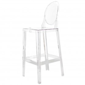 [Kartell/카르텔] One More Please Bar Stool, oval H 110 cm, crystal clear