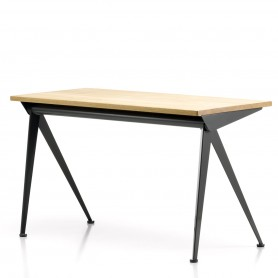 [vitra/비트라] Compas Direction Desk, natural oak wood/ black // 콤파스 디렉션 데스크, 네추럴 오크 우드/ 블랙