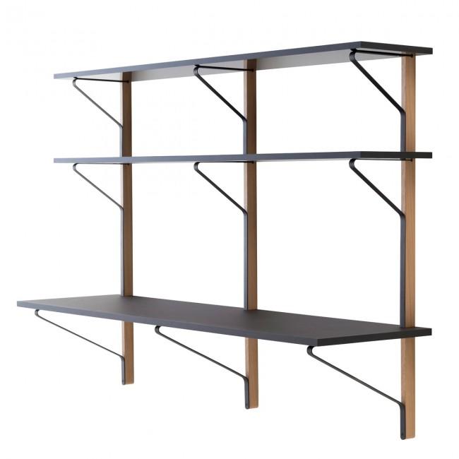 [Artek/아르텍] Kaari Wall Shelf with Desk 200 x 55 cm // 카아리 월 쉘프 위드 데스크 200 x 55 cm