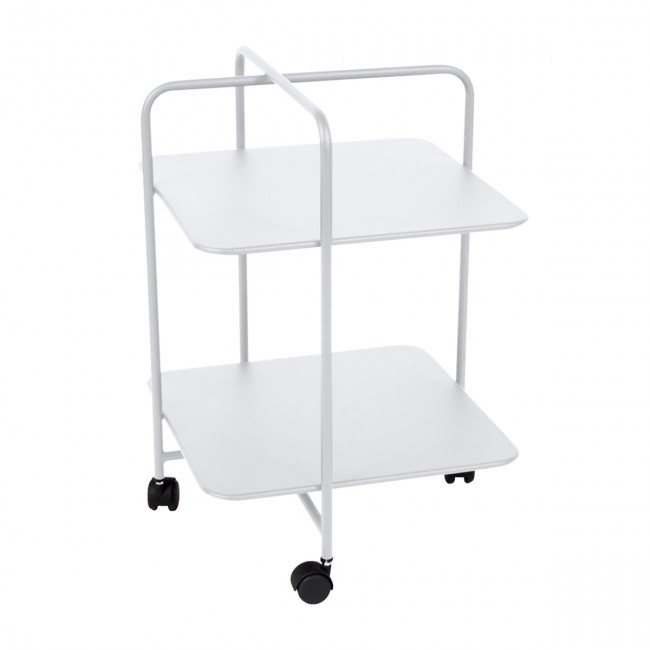 [Fermob/페르몹] Alfred Side Table on Wheels - Cotton white // 알프레드 사이드 테이블 온 휠