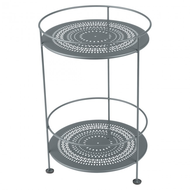 [Fermob/페르몹] Guinguette Side Table with Perforated Top Stormy Grey // 갱게트 사이드 테이블 위드 Perforated Top 스토미 그레이