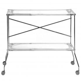 [Kartell/카르텔] Flip Side Cart, crystal clear // 플립 사이드 카트, 크리스탈 클리어