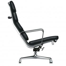 [vitra/비트라] Soft Pad EA 222, leather, chromed - black (felt pads) // 소프트 패드 EA 222, 레더, 크롬 - 블랙 (펠트 pads)