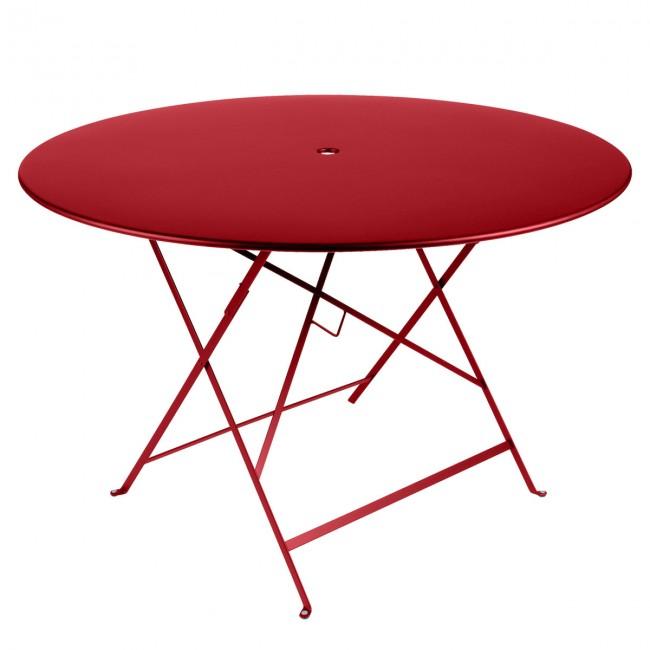 [Fermob/페르몹] Bistro Folding Table Ø 117 cm Poppy Red // 비스트로 폴딩 테이블 Ø 117 cm 파피 레드