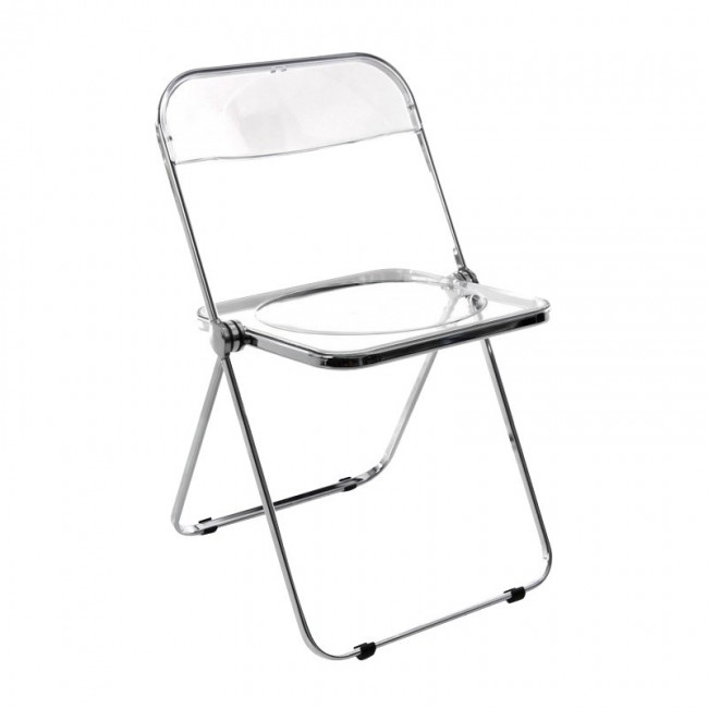 [Castelli/카스텔리] Plia Cane Folding Chair - chrome / transparent // 플리아 케인 폴딩 체어 - chrome / transparent