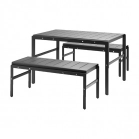 [Skagerak/스카게라크] Reform Garden Set of 3 Table With Benches // 리폼 가든 세트 오브 3 테이블 위드 벤치