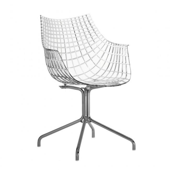 [Driade/드리아데] Meridiana Armchair With Cross Frame // 메리디아나 암체어 위드 크로스 프레임