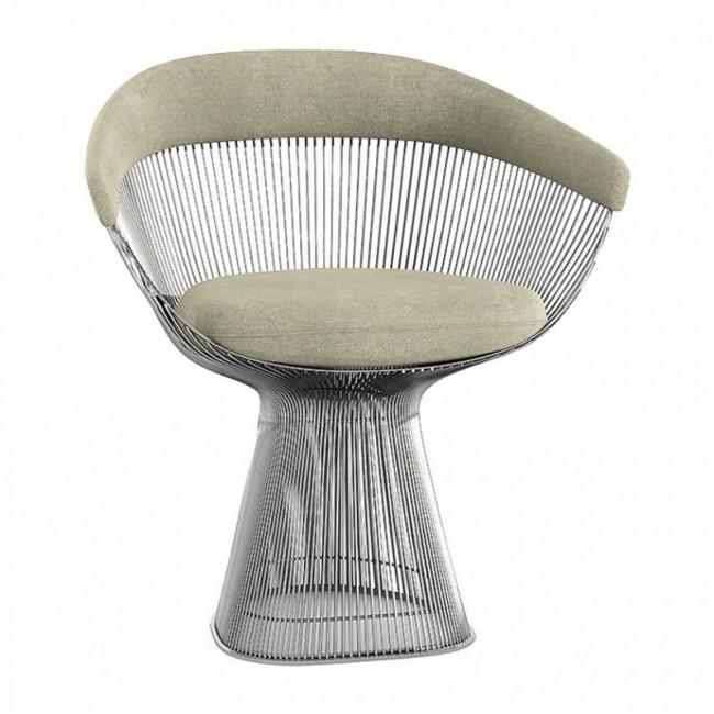 [Knoll/놀] Platner Armchair // 플래트너 암체어 fabric Circa Silver K10543