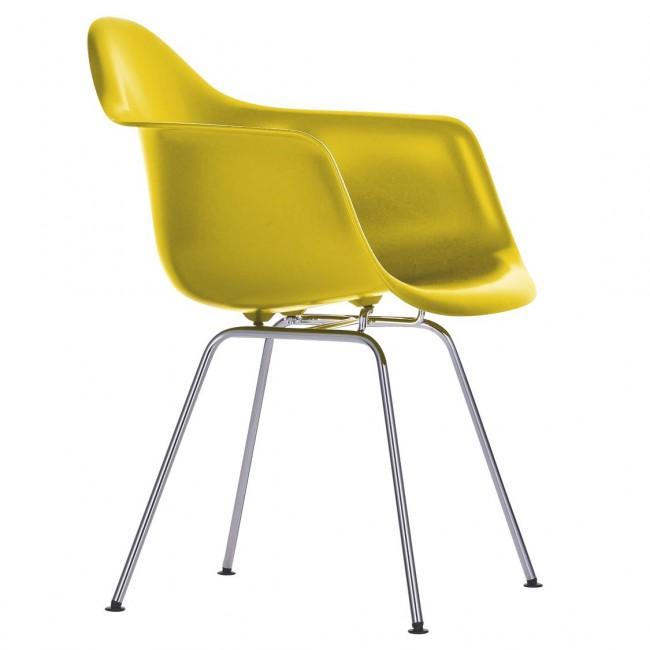 [Vitra/비트라] Eames Plastic Armchair DAX Chromed Base // 임스 플라스틱 암체어 DAX - 34 mustard