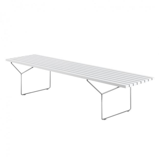 [Knoll/놀] Bertoia Outdoor Bench White / Stainless Steel // 베르토이아 아웃도어 벤치 화이트 / 스테인리스 스틸