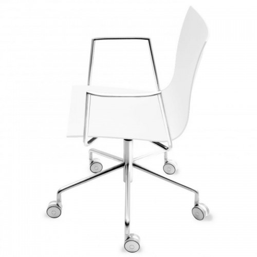[La palma] Thin S19 Swivel Chair With Rolls And Armrests