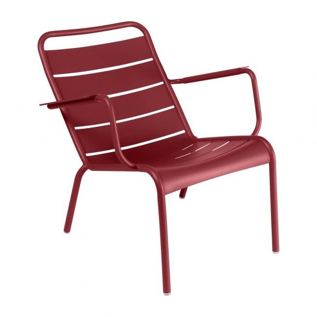 [Fermob/페르몹] Luxembourg Low Armchair Chili Red // 룩셈부르크 로우 암체어 칠리 레드