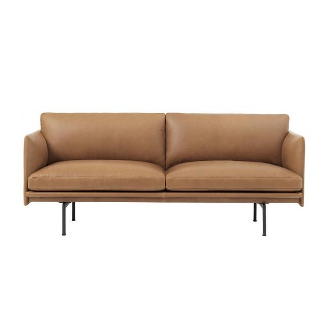 [Muuto/무토] Outline Sofa 2 Seater-Leather(Refine) // 아웃라인 소파 2 시터-레더(리파인)