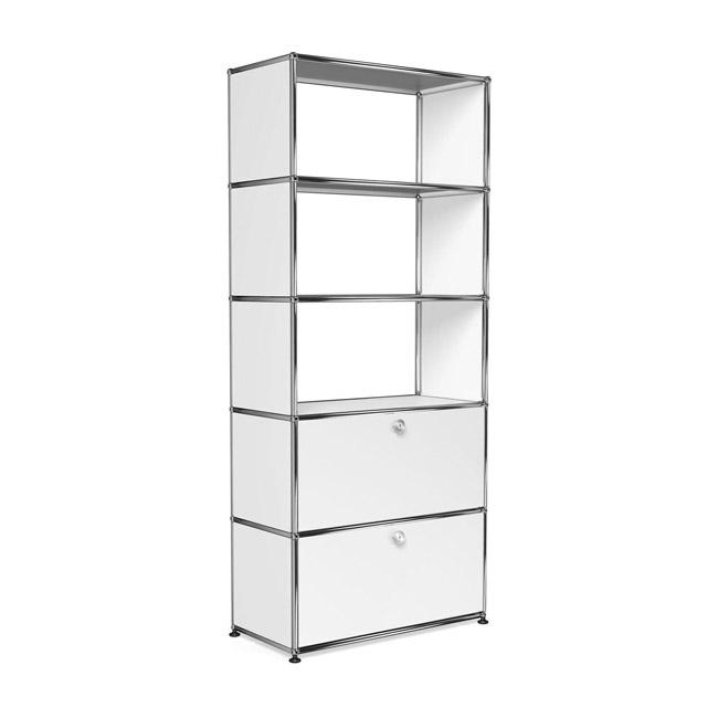 [USM Haller/유에스엠 할러] 1x5 Shelf (3 Compartm. & 2 door) // 1x5 쉘프 (3 Compartm. & 2 door)