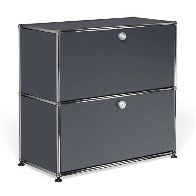 [USM Haller/유에스엠 할러] 1x2 Module System (2-door, 0-pannel, W78 x H74) // 1x2 모듈 시스템 (2-door, 0-pannel, W78 x H74)