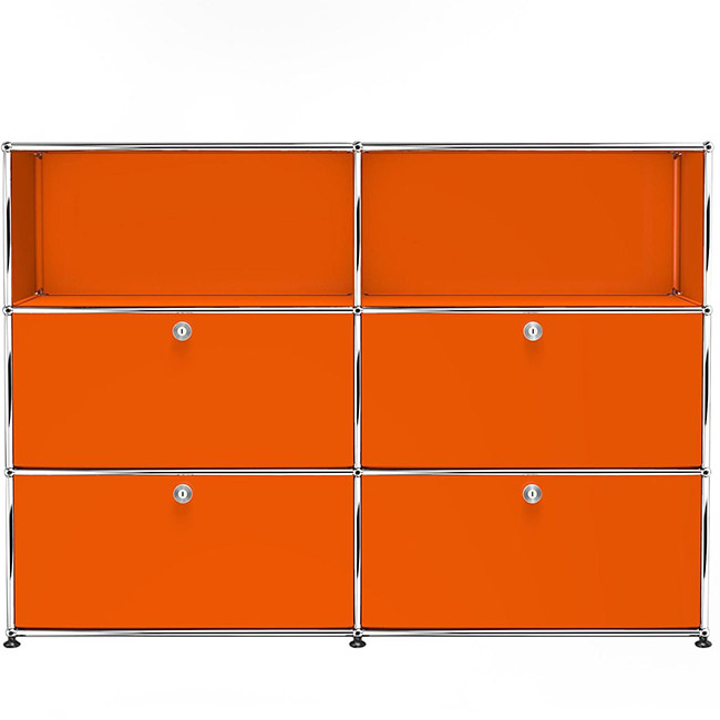 [USM Haller/유에스엠 할러] 2x3 Module System (4-bottom-door, 4-3-pannel, W154 x H109) // 2x3 모듈 시스템 (4-bottom-door, 4-3-pannel, W154 x H109)