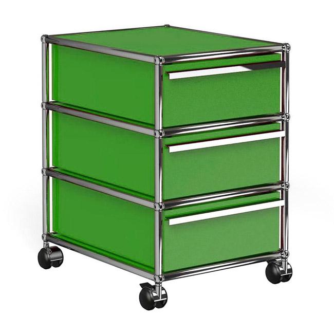 [USM Haller/유에스엠 할러] 1x3 Container With Wheels (3-drawer, W42 x H61) // 1x3 컨테이너 위드 휠 (3-drawer, W42 x H61)