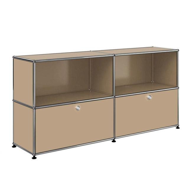 [USM Haller/유에스엠 할러] 2x2 Module System (2-bottom-door, 4-3-pannel, W154 x H74) // 2x2 모듈 시스템 (2-bottom-door, 4-3-pannel, W154 x H74)