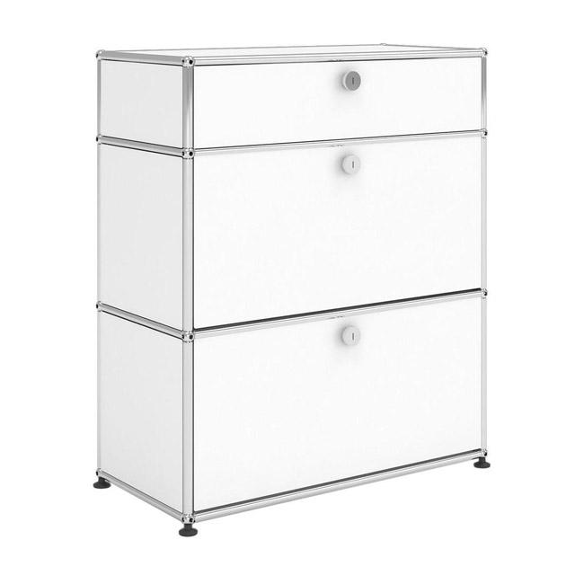 [USM Haller/유에스엠 할러] 1x3 Module System (1top-drawer-2bottom-door, 0-pannel, W78 x H92) // 1x3 모듈 시스템 (1top-drawer-2bottom-door, 0-pannel, W78 x H92)