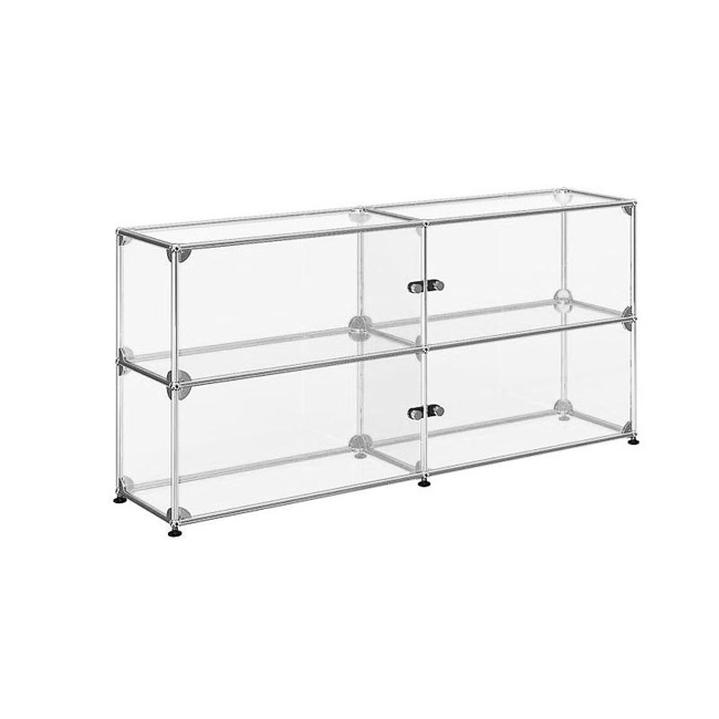 [USM Haller/유에스엠 할러] Display Cabinet With 4 Glass Doors // 디스플레이 캐비넷 위드 4 글래스 도어