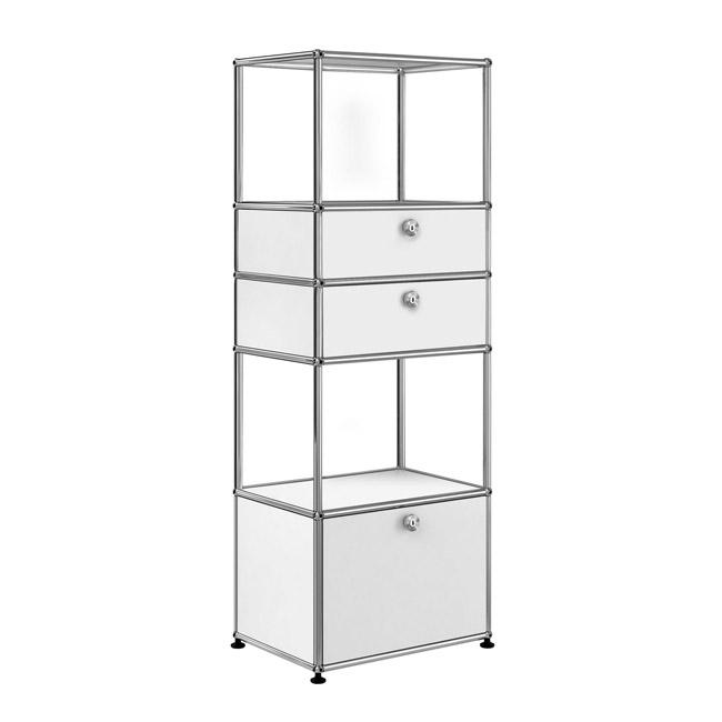 [USM Haller/유에스엠 할러] 1x5 Shelf (2 Compartm. & 3 door) // 1x5 쉘프 (2 Compartm. & 3 door)