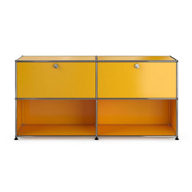 [USM Haller/유에스엠 할러] Sideboard With 2 Falling Boards Above // 사이드보드 위드 2 폴링 보드 어보브