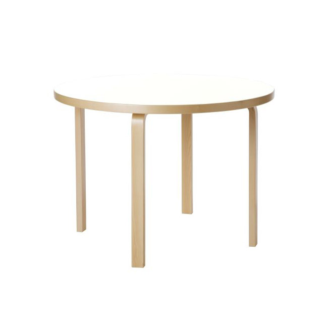 [Artek/아르텍] Aalto Table round 90A (Table top diameter 100 cm) // 알토 테이블 라운드 90A (테이블 탑 직경 100 cm)