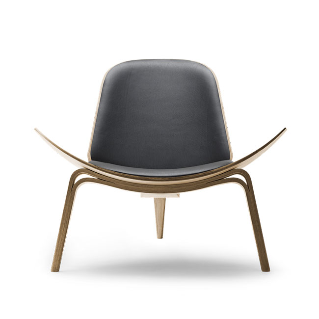 [Carl Hansen & Son/칼한센앤선] CH07 Shell chair - Leather // CH07 쉘 체어 - 레더