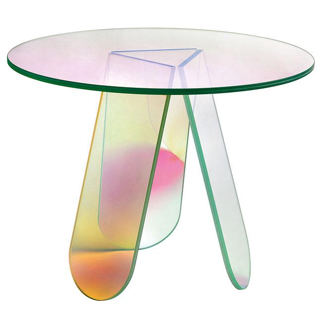 [GLAS ITALIA/글라스 이탈리아] Shimmer Table Ø65 / 쉬머 테이블 Ø65