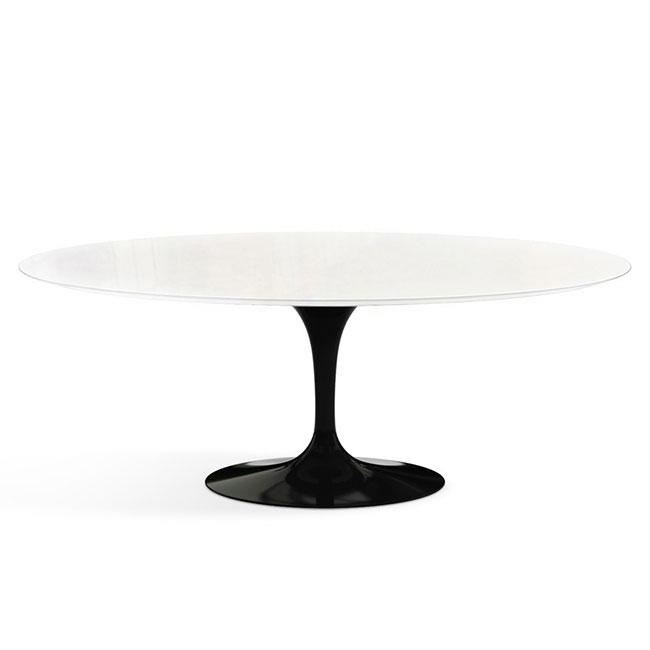 [Knoll/놀] Saarinen Outdoor Dining Table, Oval 198 x 121 Black Base // 사리넨 아웃도어 다이닝 테이블, 오벌 198 x 121 블랙 베이스
